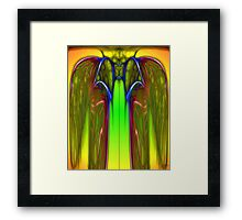 The Wasp Kings Neon Robe Framed Print