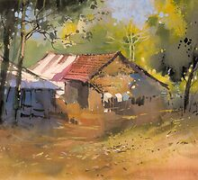 House in the woods by MilindMulick