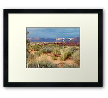Sun setting Low over Canyonlands Framed Print