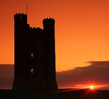 Broadway tower at sun set  by yampy