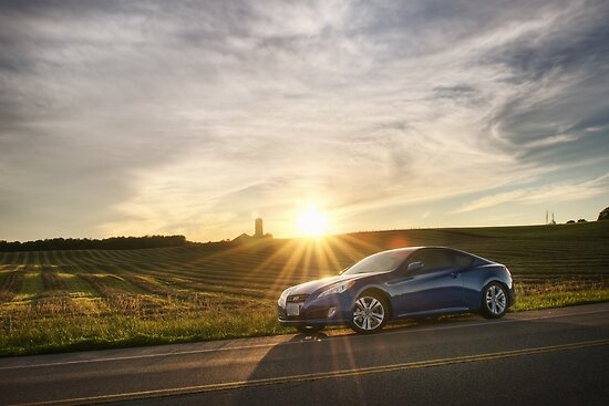 Genesis Coupe at Sunset by Rob Smith