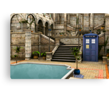 Courtyard Tardis Canvas Print