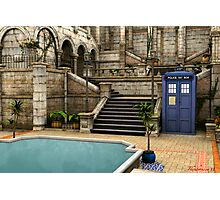 Courtyard Tardis Photographic Print