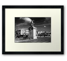 Statue of galloping horse, Paris Framed Print