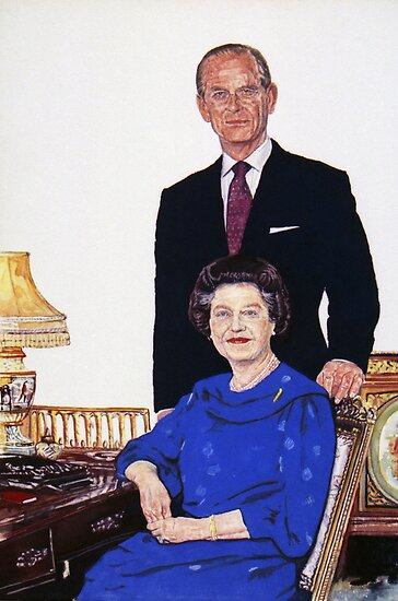 The Queen and Prince Phillip. by Michael Haslam