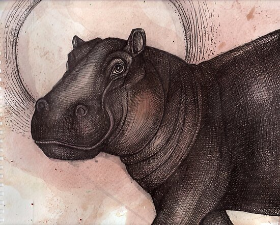 Smile (the Hippo) by Lynnette Shelley