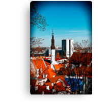 View from Toompea. Canvas Print