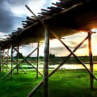 The Bridge - an image that reflects country life of India by Thauchengcha