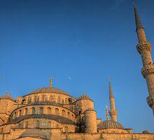 Sultanahmet Moon  - Istanbul, Turkey by Ben Prewett