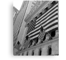 Patriotic - Stock Exchange, New York Canvas Print