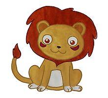 Watercolour Lion by Olluga