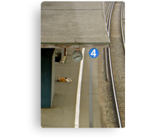 Still waiting for you on track 4 Metal Print