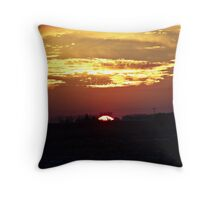 Skies Aflame Throw Pillow