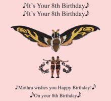 Mothra 8th birthday wish Kids Clothes