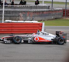 Jenson Button McLaren 04 at Silverstone 2011 by Robert G Robson