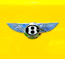 Bentley Logo on Yellow by Joe Jennelle