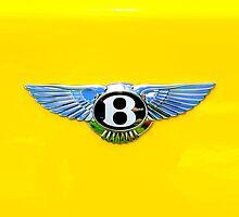 Bentley Logo on Yellow by Joe Jennelle