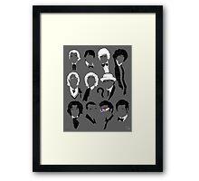 Eleven Doctors Poster Framed Print