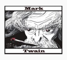 Mark Twain Caricature by dunlapshohl