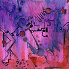 Puzzle in purple by Regina Valluzzi
