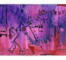 Puzzle in purple Photographic Print