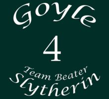 Goyle G Team Beater Slytherin Quidditch by ludlowghostwalk