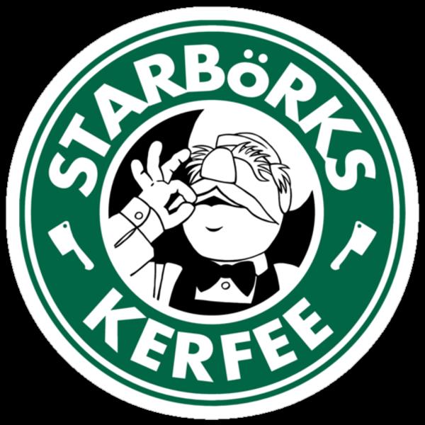 'Starbörks Kerfee' - Smaller Logo (Starbucks / The Swedish Chef) by James Hance