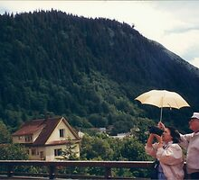 A Video Camera, An Umbrella, and A Sunny Day in Juneau, Alaska by lenspiro