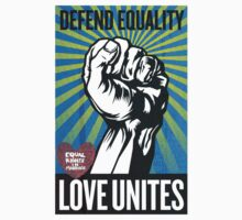 Defend equality, love unites by bamanofski