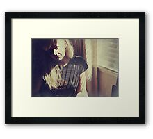 Don't Know What to Say Framed Print