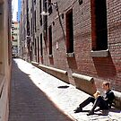 Lunch in a Melbourne lane way by John Mitchell
