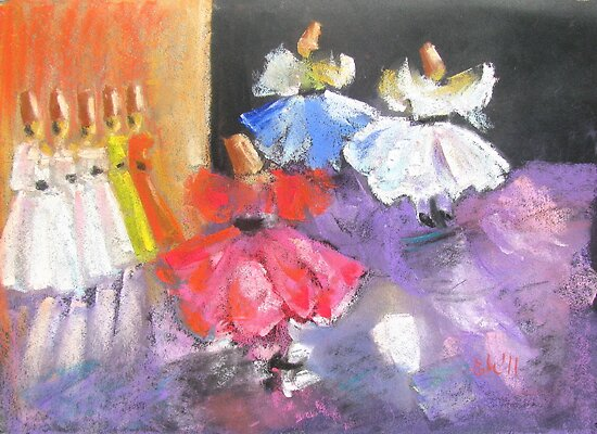 whirling dervishes in Istanbul, Turkey by Elena Malec