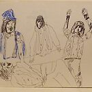The Rolling Stones ~ Beggar&#x27;s Banquet ~ 1970 Sketch by Stacey Lazarus