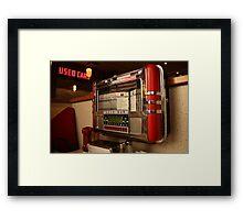 American diner jukebox Framed Print
