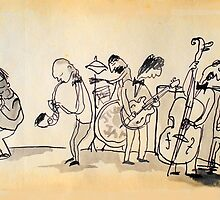 jazz band by Loui  Jover