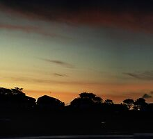 Panoramic sunset by Barry James Roberts