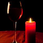 Wine & candle by Barry James Roberts