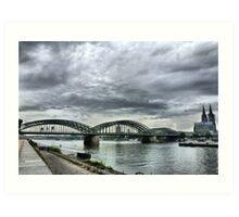 The Hohenzollen Bridge  Art Print