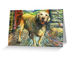Xena, Yellow Rock Star Lab Greeting Card