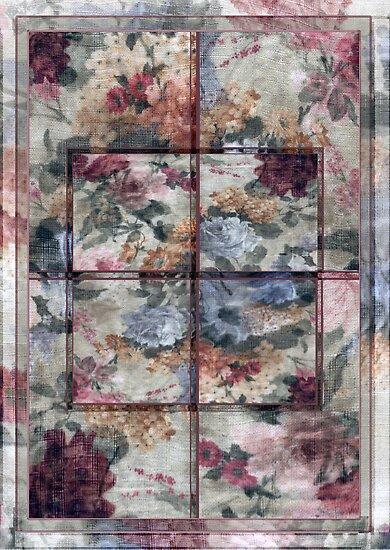 Patchwork Pink Window by Sarah Vernon
