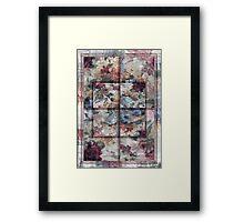 Patchwork Pink Window Framed Print