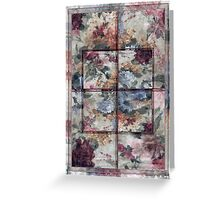 Patchwork Pink Window Greeting Card