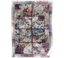 Patchwork Pink Window Poster