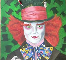 Johnny Depp,Painting in Acrylic,Artist,Fiona Williams. by Pat Duggan