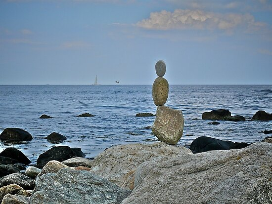 Sailing ~ Flying ~ Floating ~ or Meditating ~ Toward the Ocean by Jack McCabe
