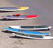 Surfboards at Rest by Brendon Perkins