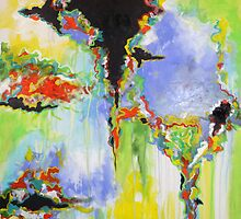 Crossroads. 30 x 30. Abstract Painting. by csoccio100