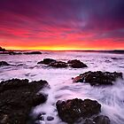 Red In The Morning-Blackhead-NSW Mid North Coast by Rodney Trenchard