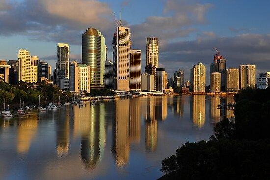 Brisbane River and City at dawn. Queensland, Australia. (11) by Ralph de Zilva