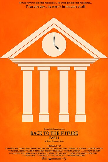 Minimalist Movie Poster: Back to the Future Part I (1) by SClarke